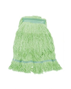 "Looped End Wet Mop, Green, 1-1/4"" headband, #16 Medium"