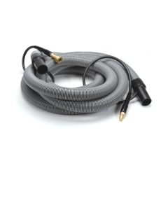 """Insider Vacuum Hose, 1-1/2"""" x 20', Gray with insider solution line and swivel cuffs, Up to 400 P.S.I., 1 per carton"""
