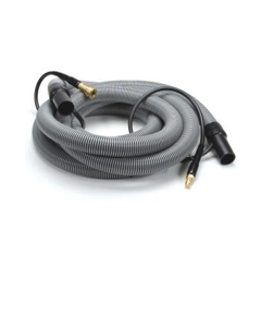 """Insider Vacuum Hose, 1-1/2"""" x 20', Gray with insider solution line and swivel cuffs, Up to 1250 P.S.I., 1 per carton"""