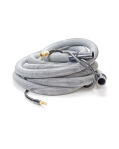 """Insider Vacuum Hose, 1-1/2"""" x 30', Gray with insider solution line and swivel cuffs, Up to 400 P.S.I., 1 per carton"""