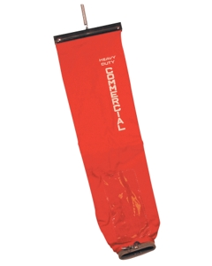 Eureka / Sanitaire lock on bag, open top with slide & spring, red