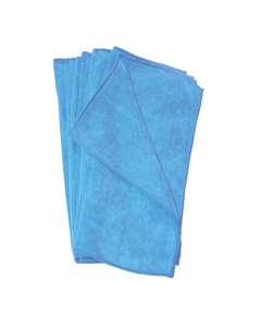 "16"" x 16"" Microfiber towels, Blue"