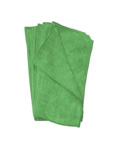 "16"" x 16"" Microfiber towels, Green"
