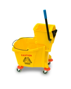 Mop bucket and wringer, 9 gallon capacity