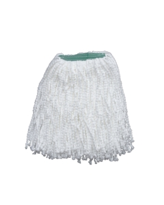 "Pearl Microfiber Wet Mop, White, 1-1/4"" headband, #16 Medium"