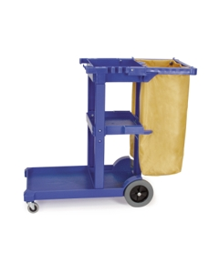 Janitor's cart with heavy-duty bag