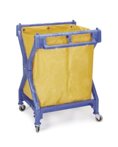 Folding laundry cart, six bushel capacity