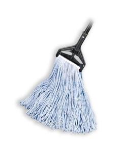 "Cut End Wet Mop, Cotton/Poly Blend, 1-1/4"" headband, #24 Large"