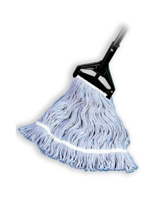 "Looped End Wet Mop, Blue, 1-1/4"" headband, #24 Large"