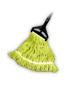 """Looped End Wet Mop, Yellow, 1-1/4"""" headband, #24 Large"""