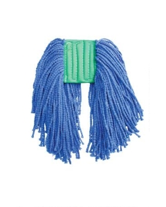 "Pearl Microfiber Wet Mop, Blue, 1-1/4"" headband, #16 Medium"