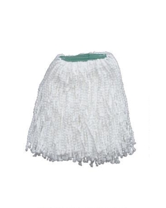 "Pearl Microfiber Wet Mop, White, 1-1/4"" headband, #24 Large"