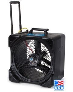 F5 Axial Fan / Air Mover with Handle and Wheels