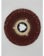 """11"""" Extra-heavy grit scrub brush with clutch plate"""