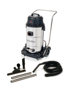 15 Gallon Wet Dry Vacuum With Stainless Steel Tank and Tool Kit