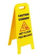 Wet Floor Sign 25 Tall 11 Wide Safety Yellow