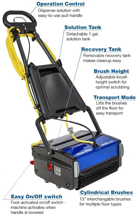 Powr Flite 14 Quot Multiwash Micro Automatic Floor Scrubber