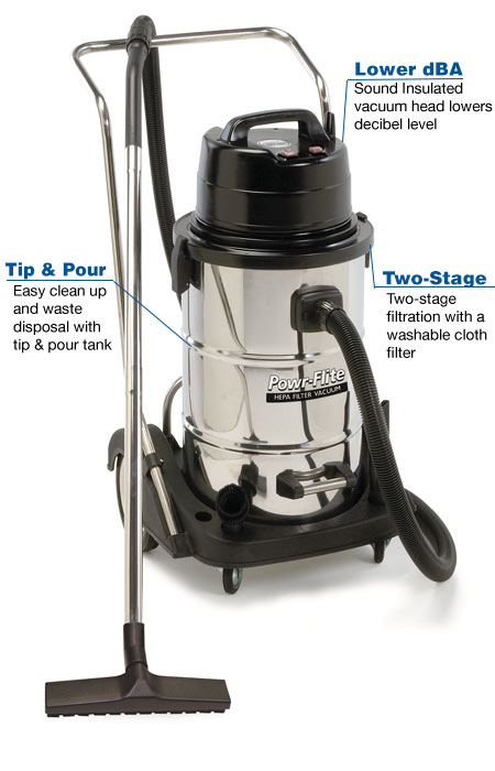20 Gallon Wet Dry Vacuum - Dual Motor with Stainless Steel Tank