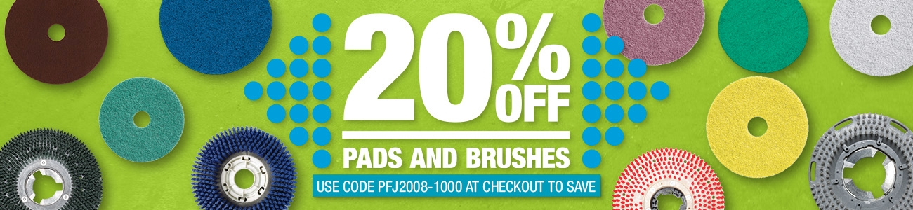 20% off Pads & Brushes this month!