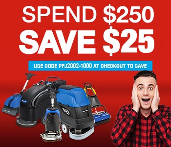 Shop Powr-Flite floor cleaning machines - Spend $250 Save $25 this month!
