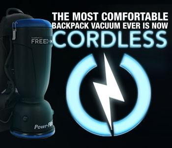 Premium Freedom Comfort Pro Cordless Backpack Vacuum Cleaner