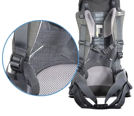 Cool Aircomfort Mesh Harness decreases sweat by 25%