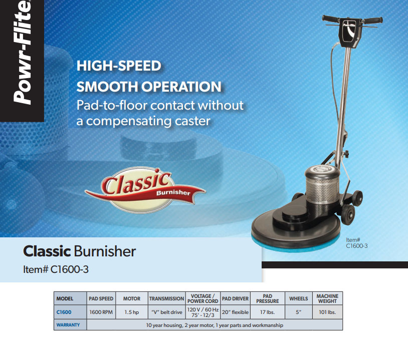 Classic Metal Burnisher 1,600 RPM