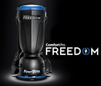 Experience the productivity and comfort of Freedom Comfort Pro backpack vacuum