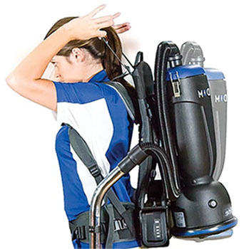 Comfort Pro Backpack Vacuum adjustable for any user