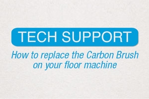 How to replace the carbon brush on your floor machine