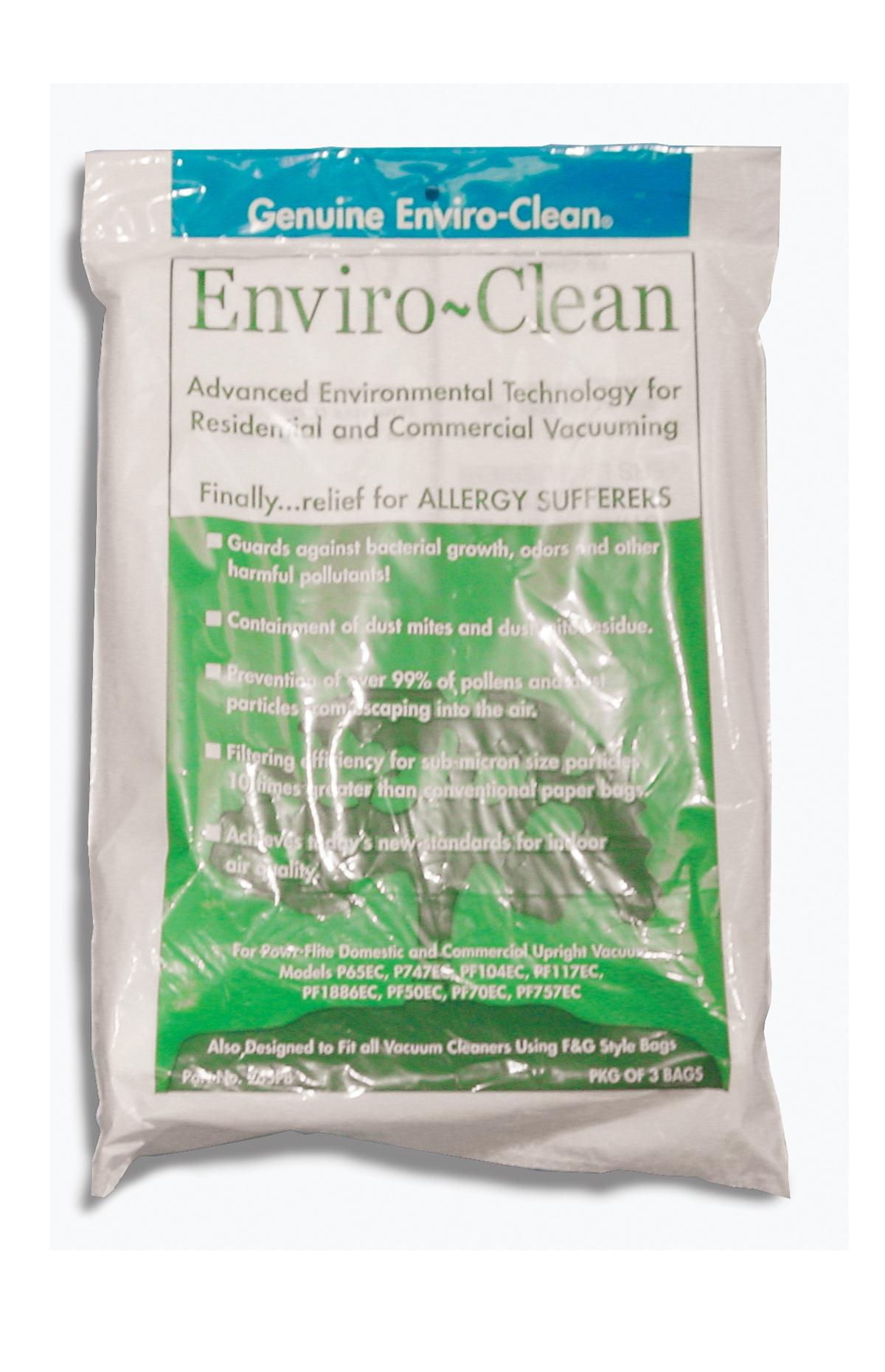 Enviro-Clean Paper Bag 9 per pak, Fits PF50, PF70, PF757, PF1886, PF1887